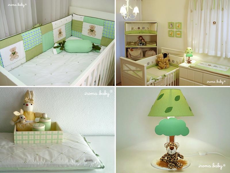 Quarto de bebê verde Blog do bebê Iroma Baby