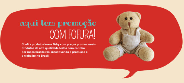 Promoção enxoval de bebê e Outlet virtual Iroma Baby
