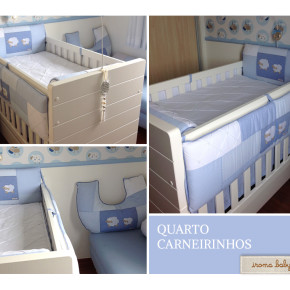 Quarto de bebê azul Carneirinho