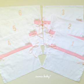 Envelopes enumerados para maternidade